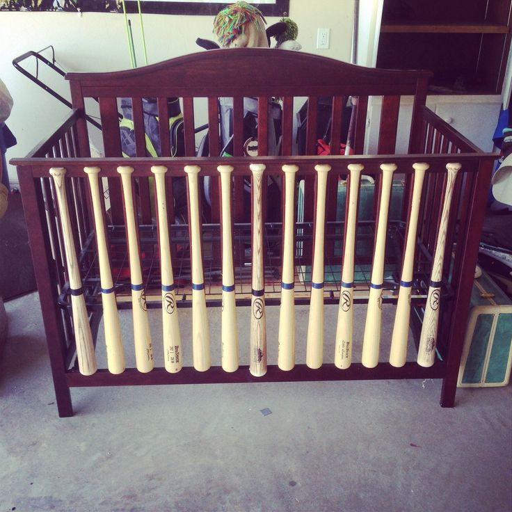 Baseball bat baby bed, same idea, different style