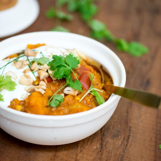 Butternut and kaffir lime dahl by Nadia Lim | NadiaLim.com swap ot butternut for courgettesand red peppers