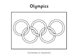 Olympic Flag Colouring Pages. Free printable pages to color and get ready for the Olympics. #olympics #freeprintable #coloringpages