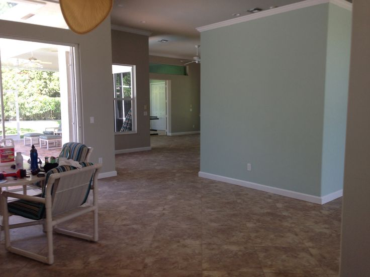 Benjamin Moore Revere Pewter And Palladian Blue Walls