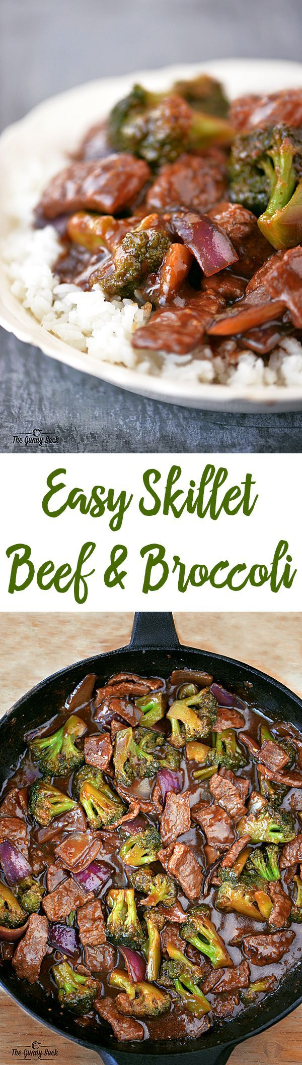 This Easy Skillet Beef and Broccoli recipe is better than take out and is ready in less than 30 minutes!