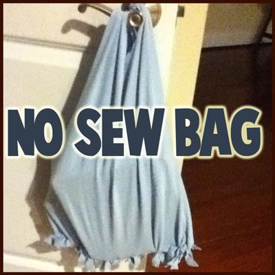 No-Sew Tote Bag Craft from Recycled Old T-Shirts