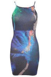 '90s bodycon graphic print dress PLUS - A Summer Discount Code: 15% off Festival Shop at Miss Selfridge