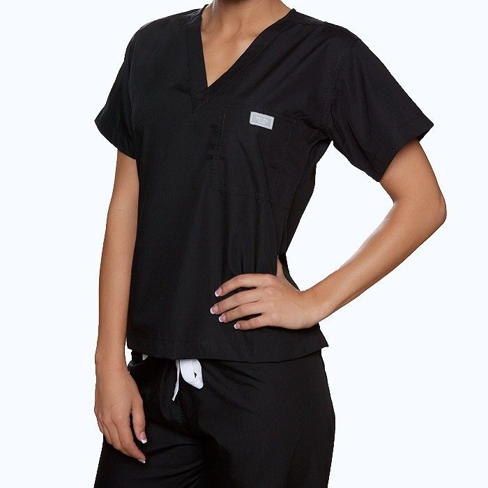 They look as good as the picture on in real life! Fabulous!  blue sky scrubs - Black Scrub Top, $27.00 (http://www.blueskyscrubs.com/Black-Scrub-Top.html)