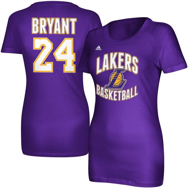 Kobe Bryant Los Angeles Lakers adidas Women's Name and Number T-Shirt – Purple - $27.99