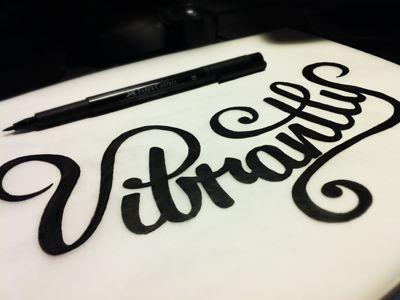 Vibrantly Inked Sketch