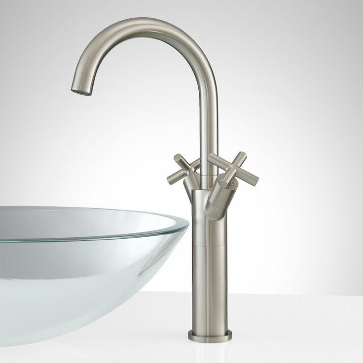 Aviston+Single-Hole+Vessel+Faucet+with+Pop-Up+Drain+