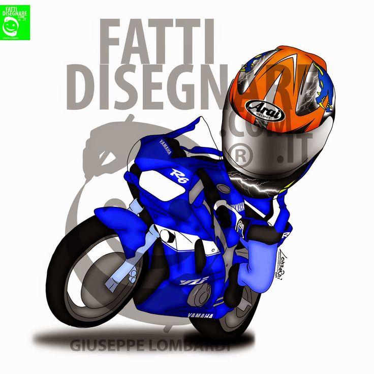 #FattiDisegnare come ha fatto Adrian Erresei ( che mi ha lasciato il #consenso di poter #pubblicare il suo #Disegno ) Cosa aspetti, FATTI DISEGNARE anche tu!!! #GiuseppeLombardi#StileDisegnoDigitale #Yamaha #R6 #blu #arancione #drago #moto#speed #track #motorcycle #italy #online