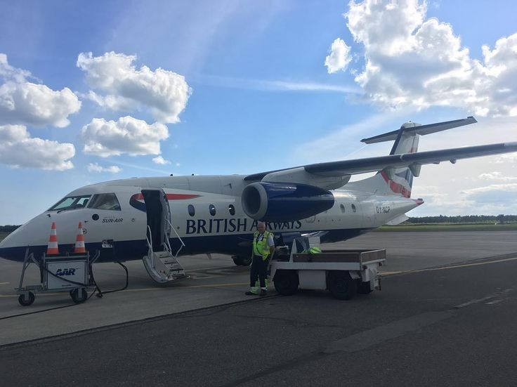 Cutest #airplane ever #donier328 #britishairways #sunair #sunairofscandinavia #aarhus #denmark #airport and what a #service during the #flight #worktravel #busines