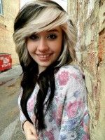 Best Style of Black Hair with Blonde Highlights 2016