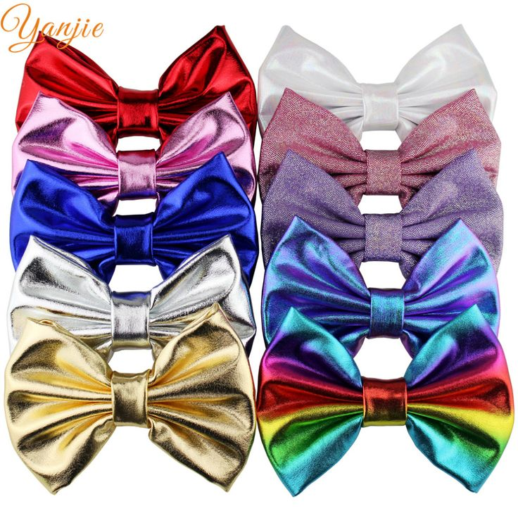 10pcs/lot 5'' Big Messy Metallic Glitter Bow Hair Clips For Children And Kids Hair bows Little Girls Headbands Hair Accessories-in Hair Accessories from Mother & Kids on Aliexpress.com | Alibaba Group