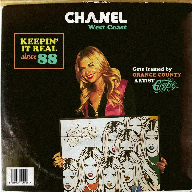 Chanel West Coast framed by GRAFIK | Pop Art illustration. | Instagram @GRVFIK