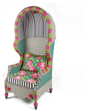 Greenhouse Outdoor Bonnet Chair | MacKenzie-Childs eclectic outdoor chairs