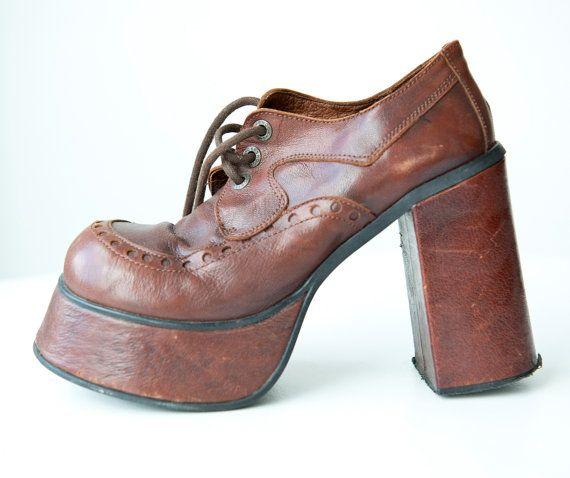 te gekke bruine jaren 70 schoenen