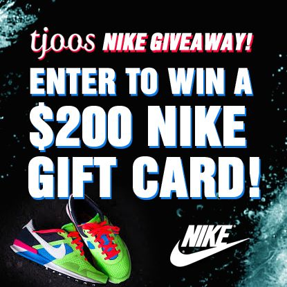 Nike Gift Card Giveaway WIN a $200 NIKE Gift Card Enter DAILY-Ends 10/15