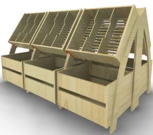 Фруктовый стеллаж с накопителем А2 - Торговое оборудование от производителя