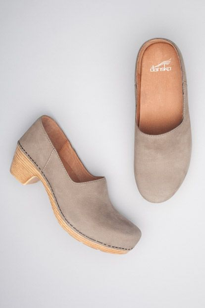 I really need to give these a try. dansko marisol clog in taupe milled nubuck