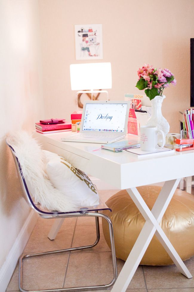 the 29 most stylish workspaces on instagram bedroomglamorous white office chair design style