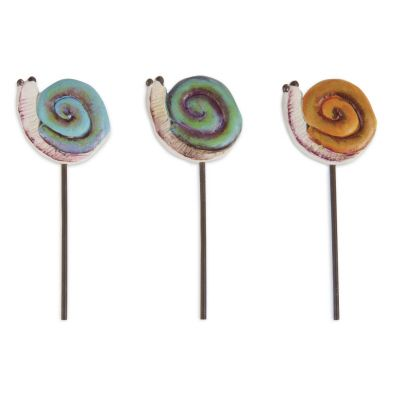Fairy Garden Snail, Each -  from VIVIANO Flower Shop, Detroit MI Florist - Idea for a Snips & Snails themed boy baby shower: how about miniature fairy garden centerpieces or little succulent plant favors decorated with these cute tiny snail picks? #newbaby #party #details