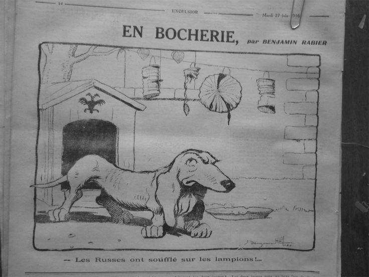 1916 E6 Dessin Humour Bocherie Niche Ornee Aigle Imperial Basset Russe Lampion | eBay