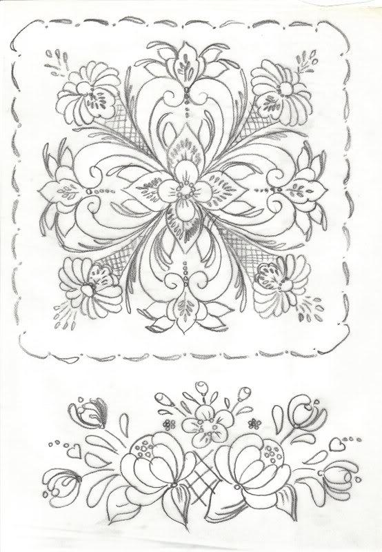 Norwegian rosemaling pattern
