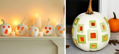 Painted Pumpkin Ideas  Expressive Ghosts & Mod Square Design