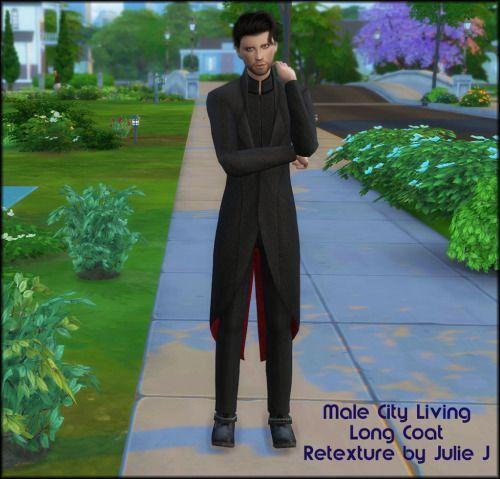 Male City Living Long Coat Retexture at Julietoon – Julie J