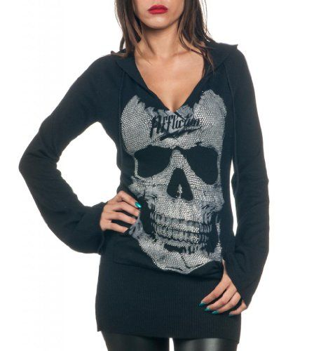 Affliction Women Hooded Sweater Bell Long Sleeves Crystal Skull in Black Affliction,http://www.amazon.com/dp/B00GN04FUC/ref=cm_sw_r_pi_dp_.XQPsb0G4HKM25AZ