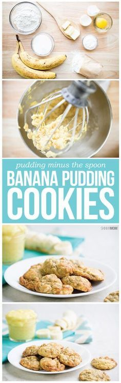 Banana Pudding Cookies- These are the best low-calorie cookies, we promise!