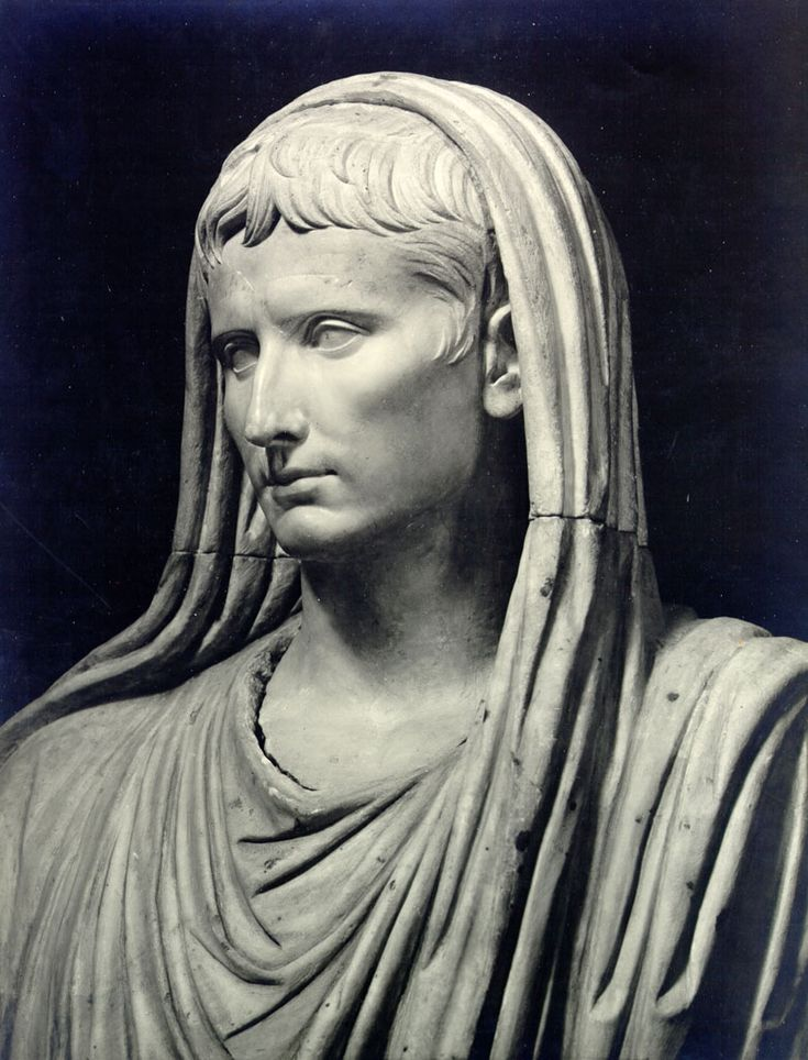 Caesar Augustus in the garb of pontifex maximus