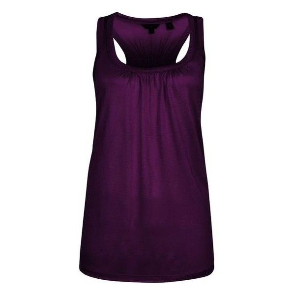 Ted Baker Skylon Racer Back Vest, Deep purple, 5 ❤ liked on Polyvore featuring outerwear, vests, racerback vest, purple vest, ted baker, purple waistcoat and vest waistcoat