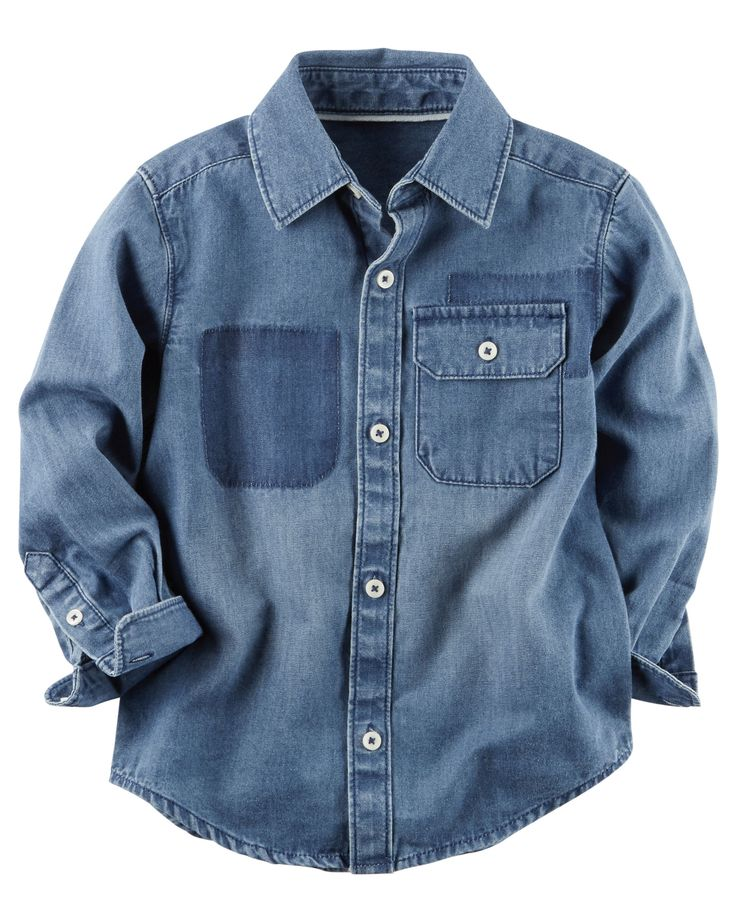 Toddler Boy Denim Button-Front Shirt | Carters.com