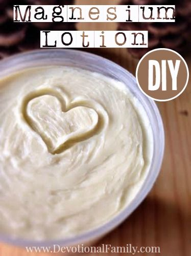 How to Make Magnesium Lotion that emulsifies well and won't separate. Magnesium has MANY amazing health benefits! || www.DevotionalFamily.com