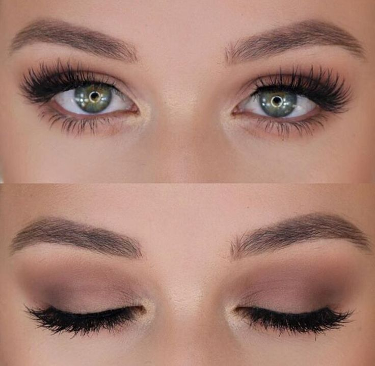 Soft makeup for green eyes