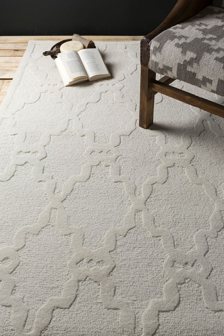 Tonal Rug With High Low Pile Details In A Neutral Ivory Color This Is From The Chandler Collection Surya