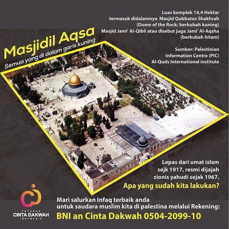 . . Manakah Yang Disebut Masjid al-Aqsha?  Di sini banyak sekali terjadi kekeliruan ketika disebut Masjid al-Aqsha banyak orang menyangka bahwa Masjid al-Aqsha adalah salah satu bangunan yang ada di sana. Ada yang mengatakan Masjid al-Aqsha adalah bangunan yang memiliki kubah berwarna kehitaman atau perunggu.  Pendapat-pendapat yang ada tersebut seakan saling berbenturan dan ada yang mengatakan pencitraan Qubbatu Shakhrah (Dome of The Rock bangunan dengan kubah berwarna kuning) sebagai…