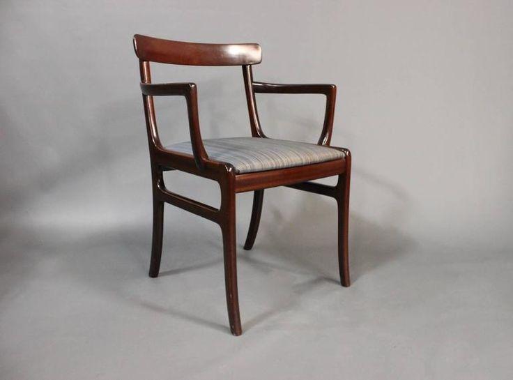 "Pair of ""Rungstedlund"" Armchairs by Ole Wanscher, circa 1940  4"