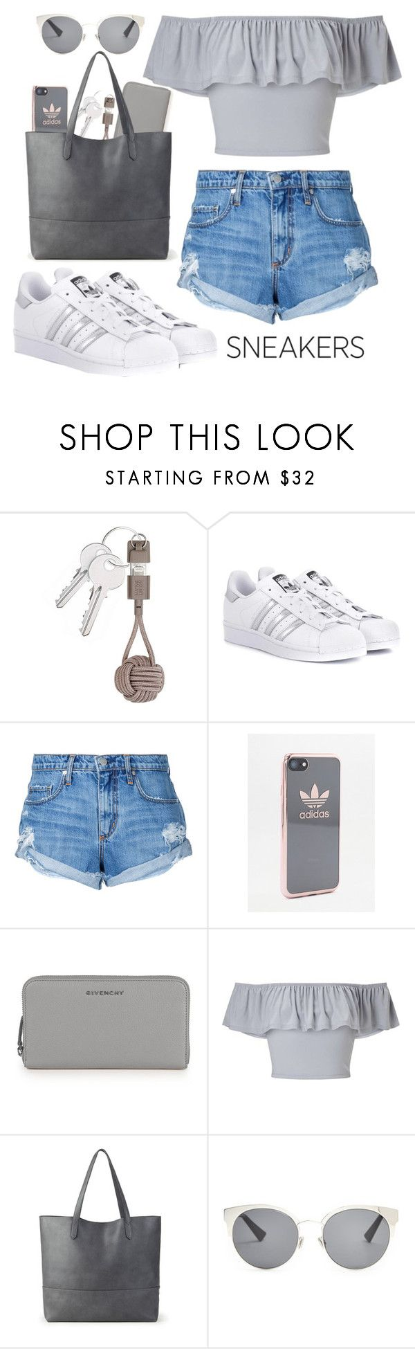 """""""White sneakers..👟"""" by terezamuskova ❤ liked on Polyvore featuring Native Union, adidas Originals, Nobody Denim, adidas, Givenchy, Miss Selfridge, Sole Society and Christian Dior"""