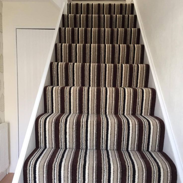 A stripe carpet, distributed by Kingsmead Carpet, fitted by Bristol Flooring Ltd.
