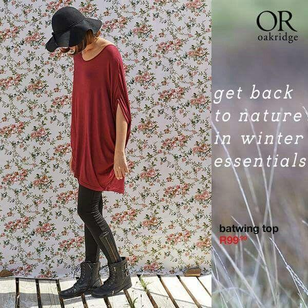 Red Batwing Top ♡ #OakRidge #myORwinter #mrp #LoveIt