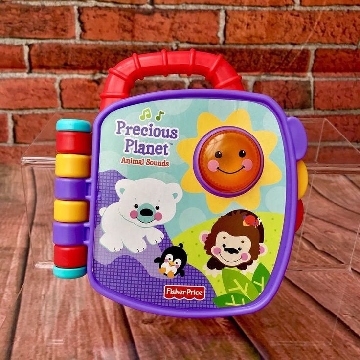 Fisher Price Precious Planet Animal Sounds. Talking Light Up Book. New Unboxed