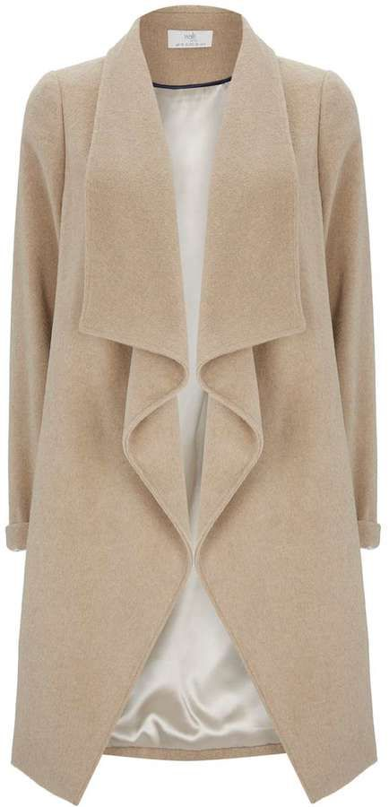 Petite Taupe Waterfall Coat