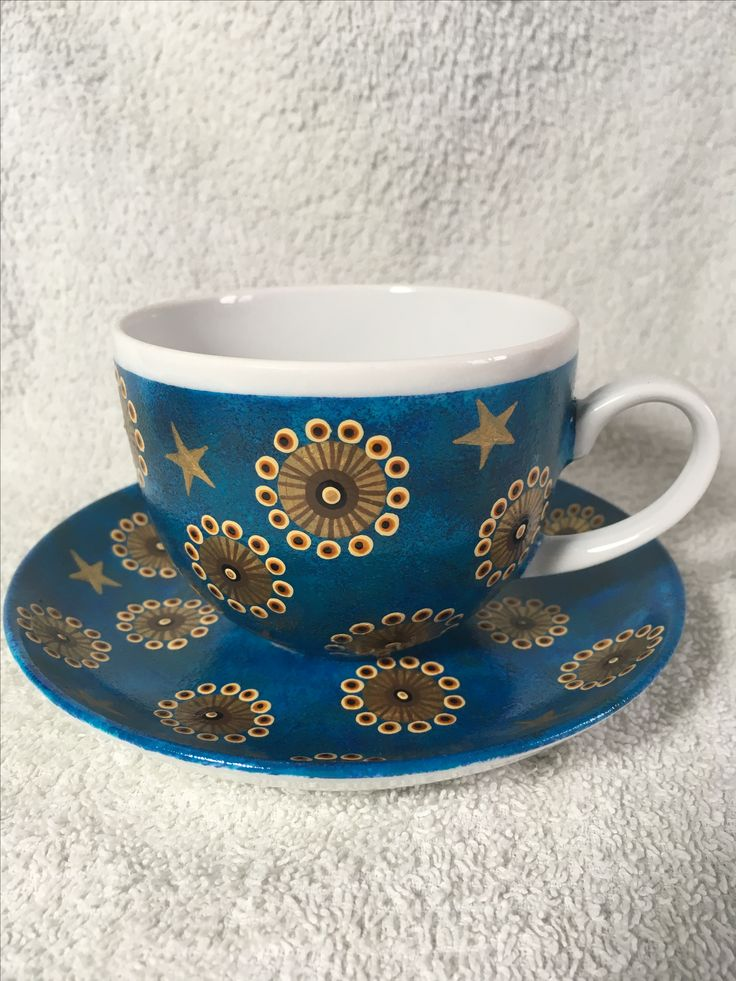 Cup hand painted
