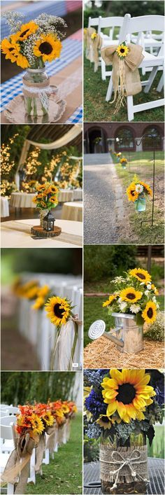 Amazing 23 Bright Sunflower Wedding Decoration Ideas For Your Rustic Wedding!