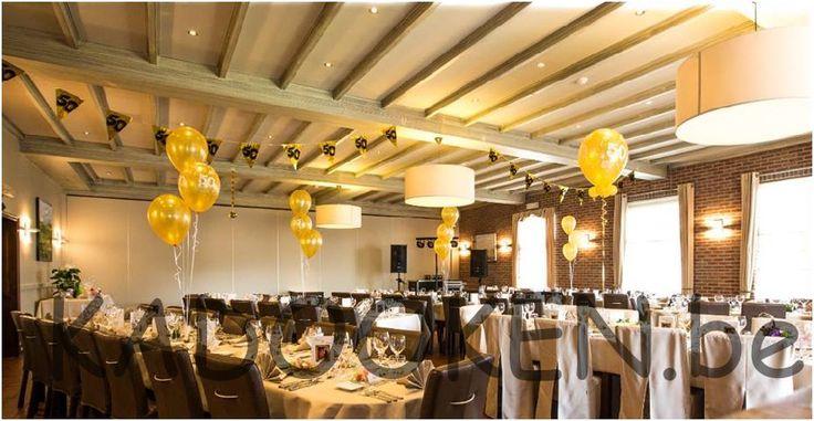Jubileum decoratie gouden bruiloft huwelijksverjaardag for Gouden bruiloft versiering