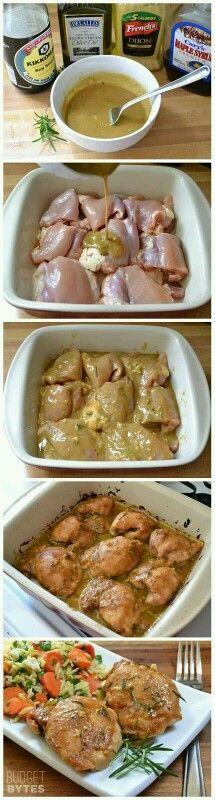 Pollo ala mostaza