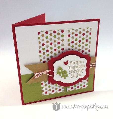 Stampin up mary fish pretty stamp it christmas messages holiday card idea deco labels framelits big shot