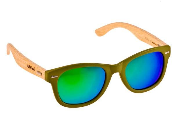 Γυαλια Ηλιου  Artwood Milano Bambooline 1 MP200 GREGRMP Green  - Green  Mirror Polarized - bamboo Τιμή: 99,00 € Φακοί: #eyeshopgr #artwoodmilano