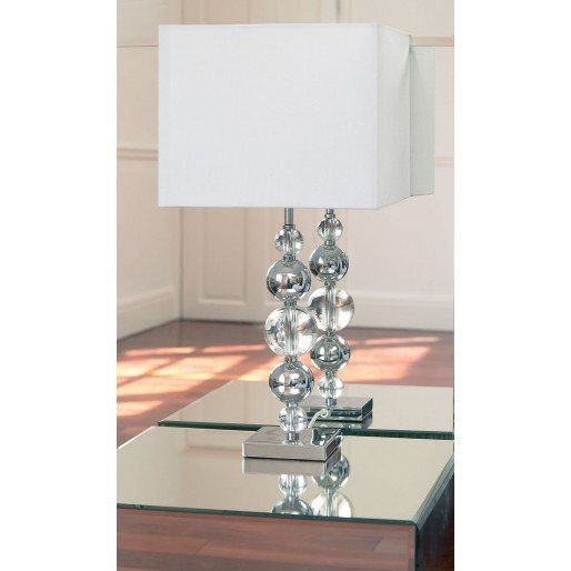 Lampe à poser Silvaner, Chrome / Cristal clair