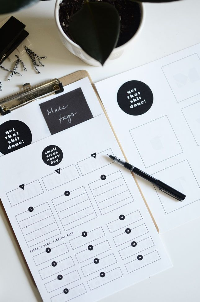 The Plumed Nest: Free Printable Goal Sheets
